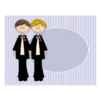 Customizable Gay Male Wedding Card (2)