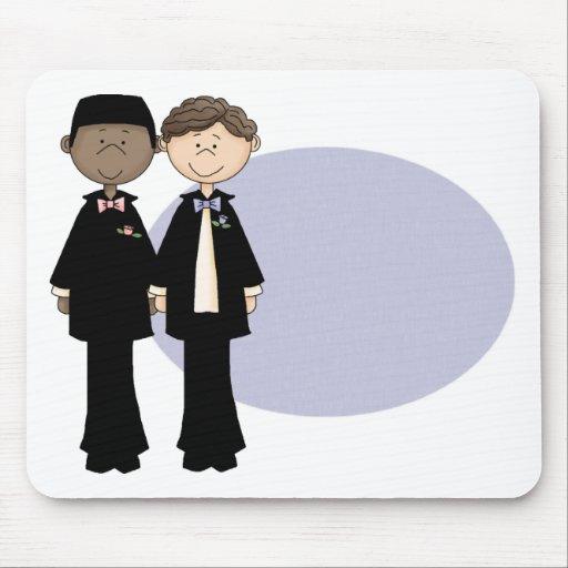 Customizable Gay Male Wedding Mousepads