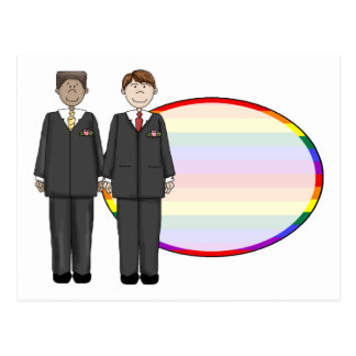 Customizable Gay Themed Wedding Cards, Stickers, T Postcard