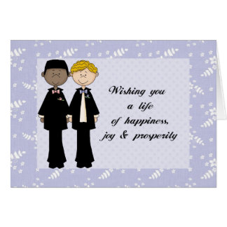 Customizable Gay Wedding Tags Card