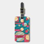 Customizable geometric artistic luggage tag