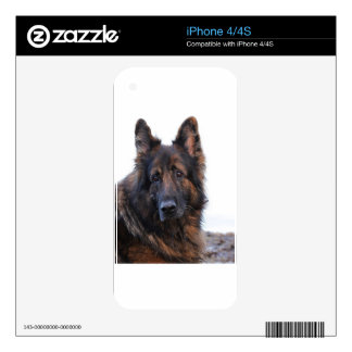Customizable German Shepherd Dog iPhone 4 Decals