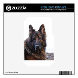 Customizable German Shepherd Dog iPod Touch 4G Decals