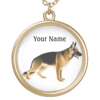 Customizable German Shepherd Dog Necklace