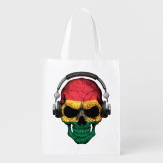 Customizable Ghana Dj Skull with Headphones Market Totes