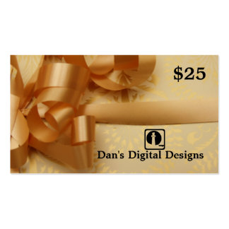 Customizable Gift Card Business Card Template