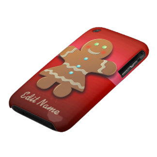 Customizable Gingerbread Cookie Case-Mate iPhone 3 Cases
