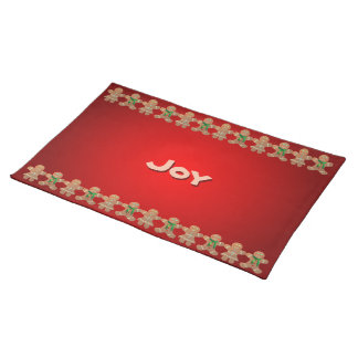 Customizable Gingerbread Cookie Cloth Placemat