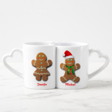 Customizable Gingerbread Cookie Coffee Mug Set