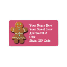 Customizable Gingerbread Cookie Label