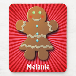 Customizable Gingerbread Cookie Mouse Pad