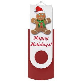 Customizable Gingerbread Cookie USB Flash Drive