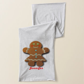 Customizable Gingerbread Cookies Scarf