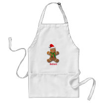 Customizable Gingerbread Man Adult Apron