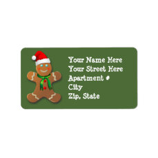 Customizable Gingerbread Man Label