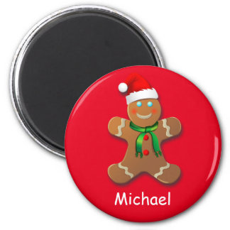 Customizable Gingerbread Man Magnet