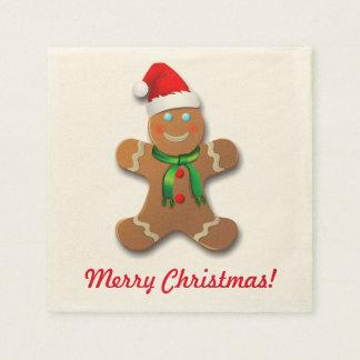 Customizable Gingerbread Man Paper Napkin