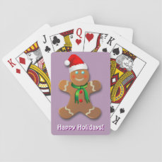 Customizable Gingerbread Man Playing Cards