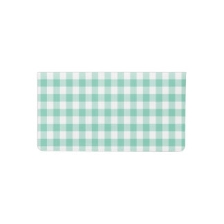 Customizable Gingham Pattern Checkbook Cover