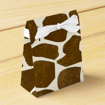 Customizable Giraffe Print Favor Box