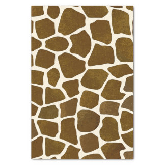 "Customizable Giraffe Print Tissue Paper 10"" X 15"" Tissue Paper"