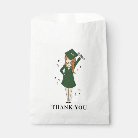 Customizable Girl Avatar | High School Graduation  Favor Bag
