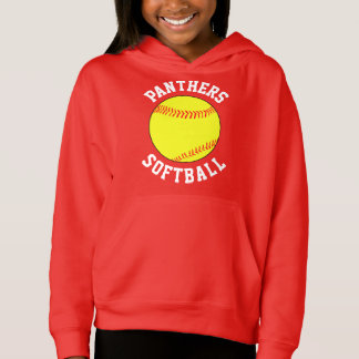 Customizable Girls Softball Sweatshirt