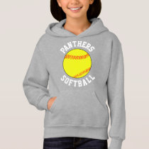 Customizable Girls Softball Sweatshirt