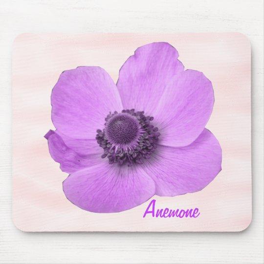 Customizable Girly Pink Anemone Mousepad