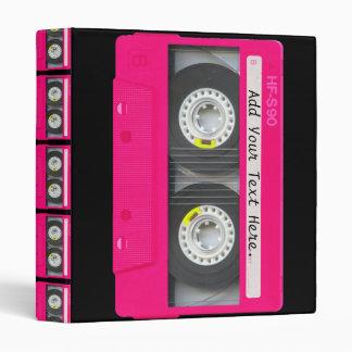 Customizable Girly Pink Cassette Tape Binder