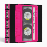 Customizable Girly Pink Cassette Tape Binders