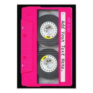 Customizable Girly Pink Cassette Tape Custom Invite