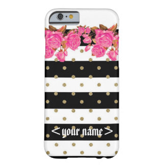 Customizable Glitter n flowers iphone 6 case