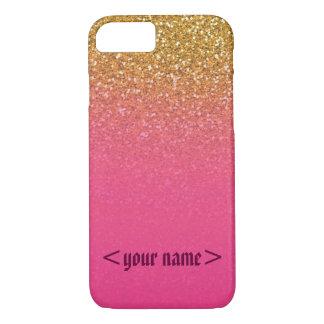 Customizable Glitter n glam iPhone 7 case