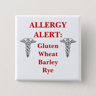 Customizable Gluten Allergy Button