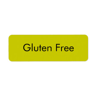 Customizable GLUTEN FREE Bakery Labels