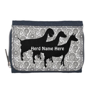 Customizable Goat Herd Name Wallet