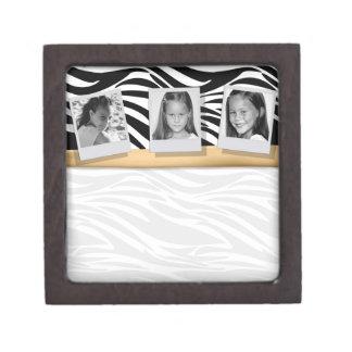 Customizable Gold 3 Photo Keepsake Box