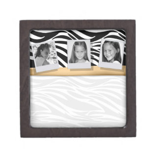 Customizable Gold 3 Photo Keepsake Box Premium Jewelry Boxes