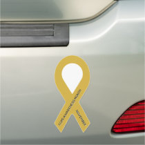 Customizable Gold Awareness Ribbon Car Magnet