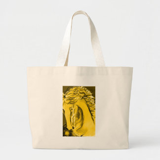 Customizable Gold Horse Jumbo Tote Bag