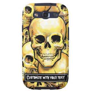 Customizable Gold Skulls Samsung Case-Mate Case Samsung Galaxy SIII Covers