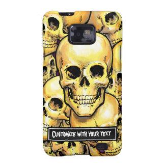 Customizable Gold Skulls Samsung Case-Mate Case Galaxy S2 Case