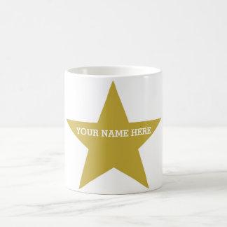 Customizable Gold Star Coffee Mug