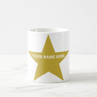 Customizable Gold Star Coffee Mugs