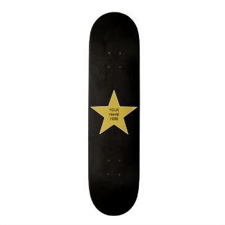 Customizable Gold Star Skateboard