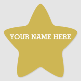 Customizable Gold Star Star Sticker