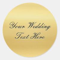 Customizable Gold Wedding Seal