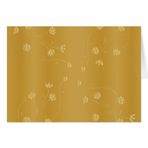 Customizable Gold With White Letters Greeting Card