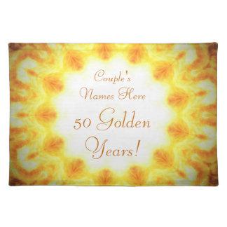 Customizable Golden Anniversary Placemat Cloth Place Mat